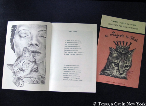 Henri Monnier's Cat Poetry Giveaway: 2 Poems