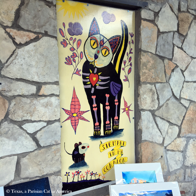 Dia de los Muertos Cat Painting | Texas, a Parisian Cat in America