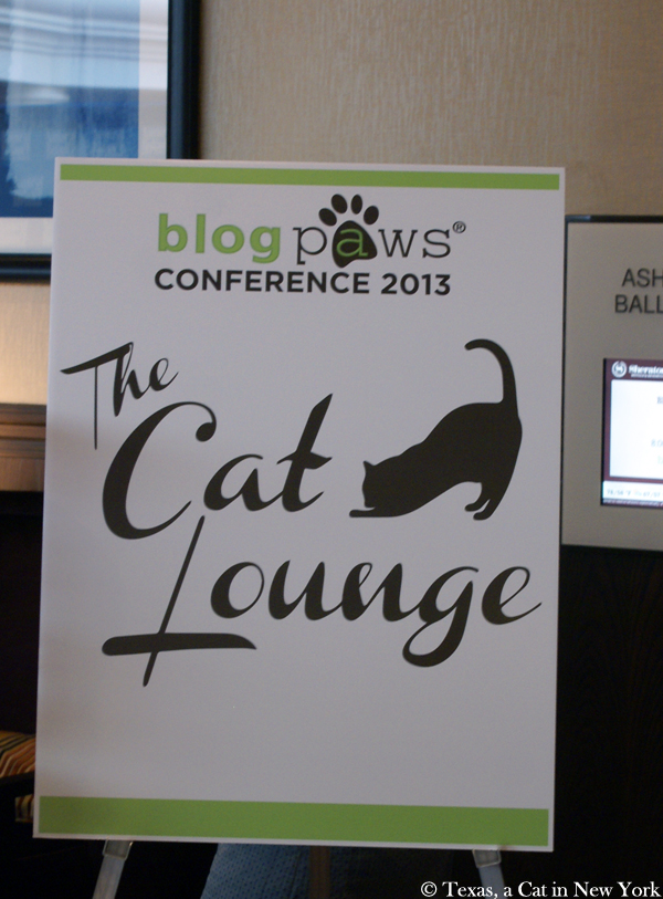 The Cat Lounge at BlogPaws 2013